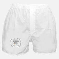 REASONS TO QUIT UP IN SMOKE Boxer Shorts