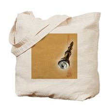 Clarinet on a colored background Tote Bag