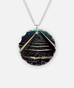 Close-up of railway tracks Necklace