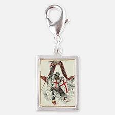 Knights Templar Silver Portrait Charm