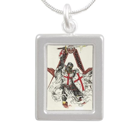 knights templar silver portrait necklace by admin cp78724028