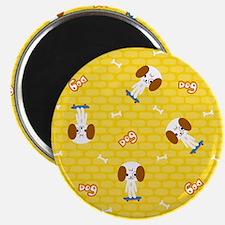 Dogs on skateboards Magnet