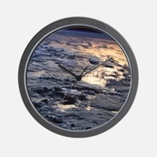 Earth viewed from a satellite Wall Clock