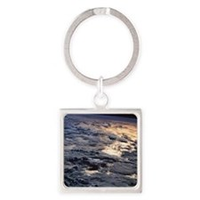 Earth viewed from a satellite Square Keychain