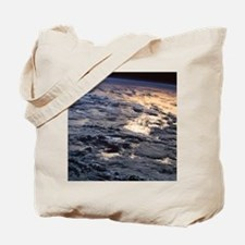 Earth viewed from a satellite Tote Bag