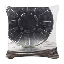 Film canisters Woven Throw Pillow
