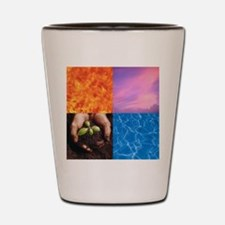 Four Elements: Fire, Air, Earth, and Wa Shot Glass