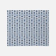 DNA sequences Throw Blanket