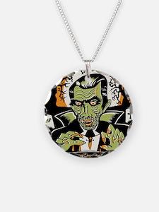 Vampire at Cauldron on Hallo Necklace
