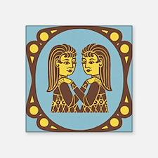 "Gemini Zodiac Symbol Square Sticker 3"" x 3"""
