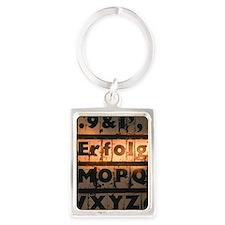 German word for success spelled  Portrait Keychain