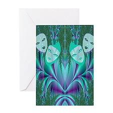 masks flip flops Greeting Card