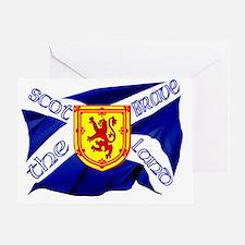 Scotland the brave flag Greeting Card