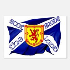 Scotland the brave flag Postcards (Package of 8)