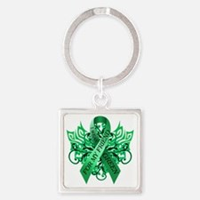 I Wear Green for my Friend Square Keychain