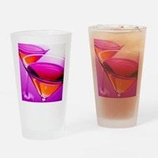Two Red martini's in pink glasses Drinking Glass