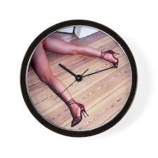 Woman's Legs in Fishnet Stockings on Ha Wall Clock