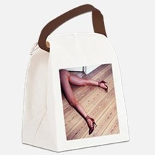 Woman's Legs in Fishnet Stockings Canvas Lunch Bag