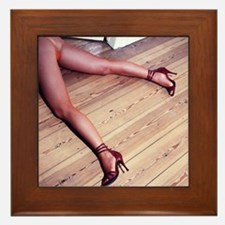 Woman's Legs in Fishnet Stockings on H Framed Tile
