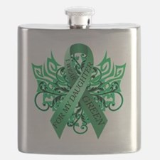 I Wear Green for my Daughter Flask