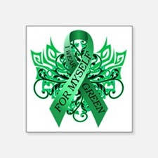 "I Wear Green for Myself Square Sticker 3"" x 3"""