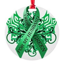 I Wear Green for my Husband Ornament