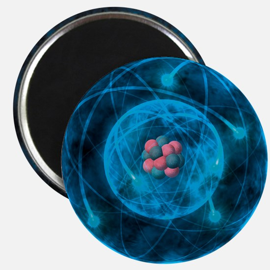 Illustration of atom with nucleus of proton Magnet