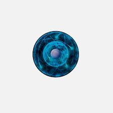 Illustration of Bohr model of the atom Mini Button