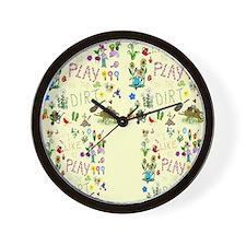gardening flip flops Wall Clock