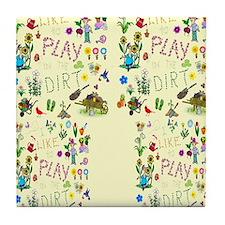 gardening flip flops Tile Coaster