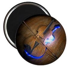 Violin leaving mold in wooden floor, illust Magnet
