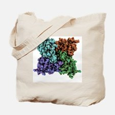 RNA-editing enzyme, molecular model Tote Bag