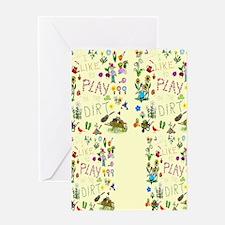 gardening flip flops Greeting Card