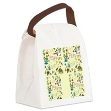 gardening flip flops Canvas Lunch Bag