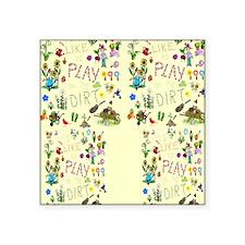 """gardening flip flops Square Sticker 3"""" x 3"""""""