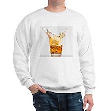 Studio shot of ice cubes splashing into Sweatshirt