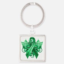 I Wear Green for my Granddaughter Square Keychain