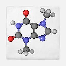 Theobromine molecule Queen Duvet