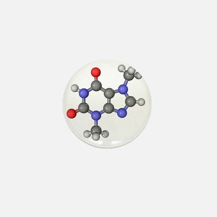 Theobromine molecule Mini Button