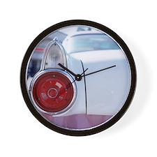 Vintage American car, close-up of rear  Wall Clock