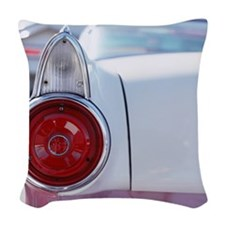 Vintage American car, close-up Woven Throw Pillow