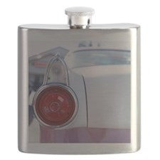 Vintage American car, close-up of rear light Flask
