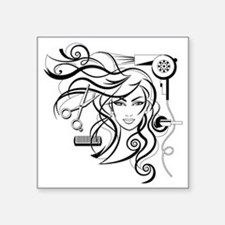 """hair style Square Sticker 3"""" x 3"""""""