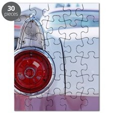 Vintage American car, close-up of rear ligh Puzzle