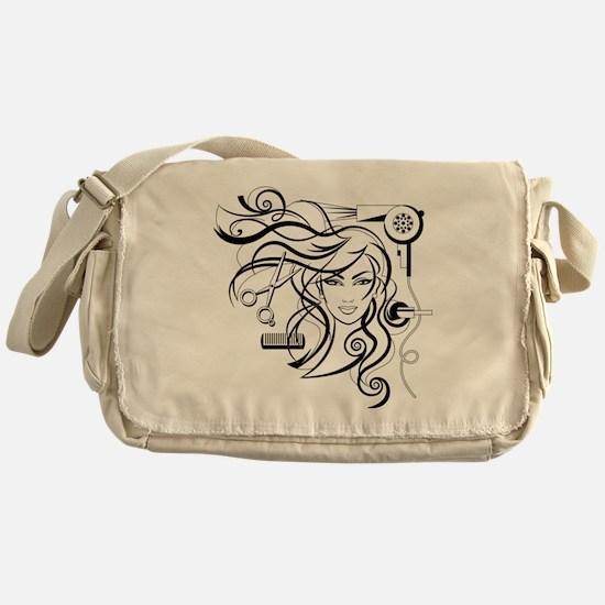 hair style Messenger Bag