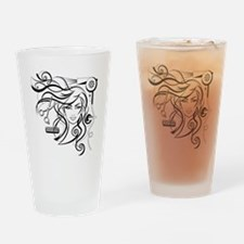 hair style Drinking Glass