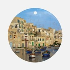 Saint Julian's Bay in Malta Round Ornament