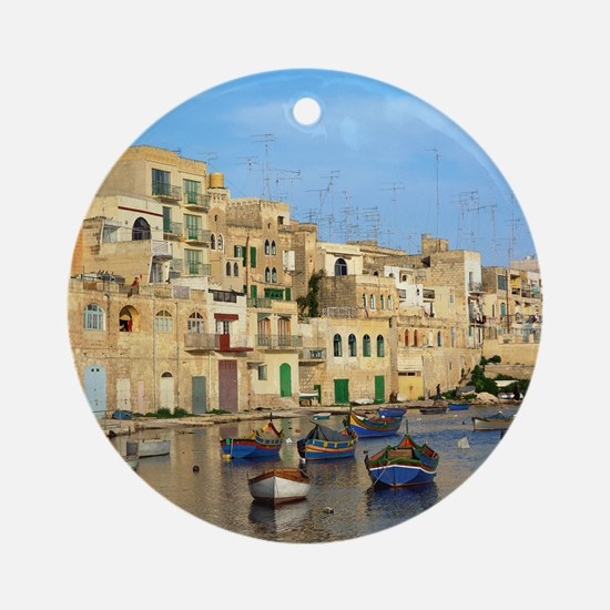 Saint Julian's Bay in Malta Round Ornament