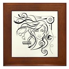hair style Framed Tile