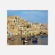 Saint Julian's Bay in Malta Throw Blanket